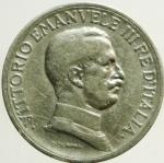 D/ Casa Savoia. Vittorio Emanuele III. 1 Lira 1917. MB