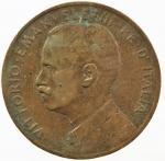 D/ Casa Savoia . Vittorio Emanuele III (1900-1943). 5 centesimi 1909. Pag. 893. AE.MB+.sv.