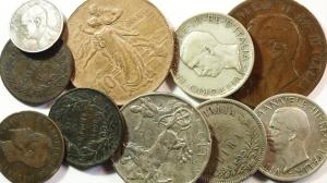 D/ Casa Savoia. Lotto di 10 monete, 4 in argento, 5 in rame + 1, 2, 1\2 centesimi lussemburghesi. Mediamente MB.sv