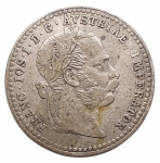 D/ Estere - Austria. 10 Kreuzer 1870. Ag. qSPL. Patina