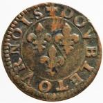 R/ Monete Estere. Francia. Principato di Chateau Regnault. Francois de Bourbon. Double tournois, Ae. type 18. BB+.