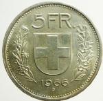R/ Monete Estere. Svizzera. Ag. 5 Franchi 1966. Peso 15,00 gr. qFDC