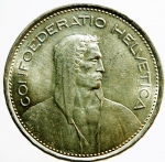 D/ Monete Estere. Svizzera. 5 franchi 1967 B. AG. KM 40. qFDC.