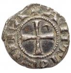 R/ Crociati - Antiochia. Boemondo V (1233-1235). Denaro. gr. 1,07. AG. qSPL/SPL. Bella patina