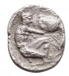 D/ Varie - Mondo Greco. Diobolo Ag. Athena a sn/ Ercole e il leone Nemeo. gr 0,97