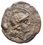 obverse: Varie - Repubblica Romana. Oncia in Ae da catalogare. Ribattitura?. gr 5,12. mm 19,68 x 21,2