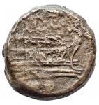 reverse: Varie - Repubblica Romana. Oncia in Ae da catalogare. Ribattitura?. gr 5,12. mm 19,68 x 21,2