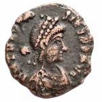 obverse: Varie - Teodosio II 402-450. Ae da catalogare. gr 1,32