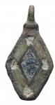 D/ Varie - Pendente in bronzo con decorazioni da catalogare. gr 2,7. H mm 28,2