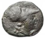 obverse: Mondo Greco - Sicilia. Siracusa. Agatocle. 305-295 a.C. AE. D/ Testa di Athena a destra. R/ Cavaliere su cavallo al galoppo a destra. Peso gr. 3,79. Diametro mm 16,76. BB+.