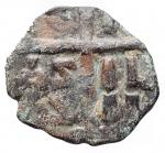 reverse: Varie -Monetazione Bizantina utilizzata dai primi Normanni ?Follis.AE.g 2,93.mm 22,7 x 20,3. Patina