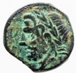 obverse: Mondo Greco. Apulia. Arpi. ca 325-275 a.C. AE 17. D/ Testa di Zeus a sinistra. R/ Cavallo al galoppo a sinistra, sopra stella. HN Italy 644. Peso gr. 3.20. Diametro mm. 16,00. BB+. Patina Verde.