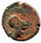 obverse: Mondo Greco. Apulia. Arpi. III sec. a.C. AE 14. D/ Testa di Athena con elmo corinzio a destra. R/ APΠANOY. Grappolo d uva. SNG ANS 646. Peso gr. 3.75. Diametro 16,00 mm. Bel BB. Patina Rossa.