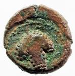 reverse: Mondo Greco. Apulia. Arpi. III sec. a.C. AE 14. D/ Testa di Athena con elmo corinzio a destra. R/ APΠANOY. Grappolo d uva. SNG ANS 646. Peso gr. 3.75. Diametro 16,00 mm. Bel BB. Patina Rossa.