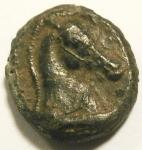R/ Repubblica Romana. Prima del 215-212 a.C.Litra. Ae. D/ Testa di Minerva a sinistra. R/ Protome equina. Cr. 17/1a. Peso 3,91 gr. Diametro16 mm. MB/BB.