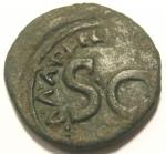 reverse: Impero Romano. Augusto. 27 a.C. - 14 d.C.Asse. Ae. Da catalogare. Peso 9,73 gr. Diametro 28 mm.MB. Patina.