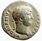 obverse: Impero Romano. Adriano. 117-138 d.C. Denario. Ag. D/ HADRIANVS AVGVSTVS Testa laureata verso destra. R/COS III Modio con spighe. RIC:197. Peso 2,35 gr. Diametro 17,65 mm. qBB. R.