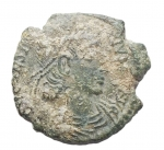 D/ Impero Romano - Costanzo II. 337-361 d.C. Ae. Aquileia. Peso gr. 2,45. BB+. Patina verde.