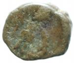 R/ Impero Romano. Leone I. 457-474 d.C. AE 10. Costantinopoli. D/ Busto a destra. R/ Imperatore scettro e globo con croce. RIC 712. Peso 1,20 gr. BB. RRRR. __