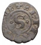 Zecche Italiane - Siena. Repubblica (1180-1390). Denaro piccolo con rosette. CNI 68/69 MIR 491. MI. gr 0,51. qBB. RRRR.