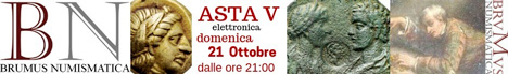 Banner Brumus Numismatica Asta V