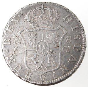 Spagna. Fernando VII. 1808-1833. 8 reales 1814. Ag. Cadice. Segno di zecca CJ.