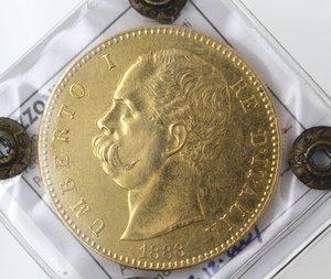 Umberto I. 1878-1900. 100 lire 1888. Au. Gig 4.