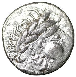 EASTERN CELTS. 2nd-1st century BC. Drachm. 15 mm - 2,24 g. .  Kugelwange  type). O:\ Celticized head of laureate Zeus to right. R:\ Horseman to right; below, III.Dembski 1121; OTA 205. XF