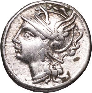D/ ROMAN REPUBLIC. C. COILIUS CALDUS. 100-97 BC. DENARIUS. Ag 3,80 gr. – 18,00 mm. O:\ Helmeted head of Roma left. R:\ Victory in biga left, holding reins; CALD, in ex. C. S.582a. EF