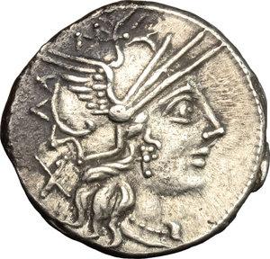 Cn. Carbo.. AR Denarius, 121 BC