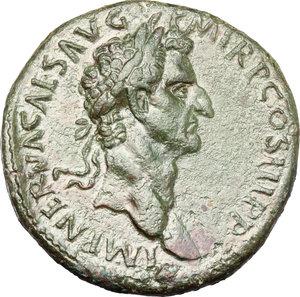 Nerva (96-98).. AE Sestertius, 96 AD