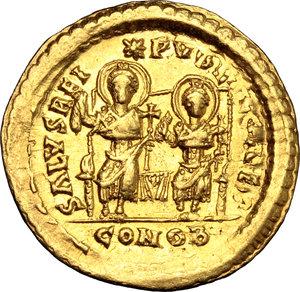 Theodosius II (408-450).. AV Solidus, Constantinople mint, 425-429 AD