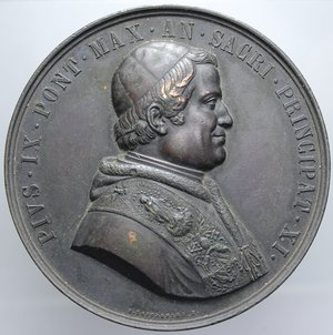 R/ PIO IX 1857 VISITA BASILICA S. LUCA BOLOGNA OPUS ZACCAGNINI DIAMETRO 59,4 MM PESO 89,23 GR qSPL
