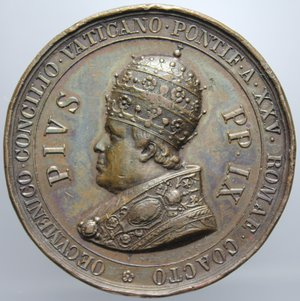 R/ PIO IX AN. XXV CONCILIO ECUMENICO VATICANO OPUS GIROMETTI DIAMETRO 43 MM PESO 29,87 GR BB