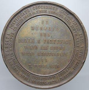 D/ PIO IX AN. XXXI 1878 PADRE PONTEFICE OPUS VAGNETTI DIAMETRO 51 MM PESO 76,51 GR BB+