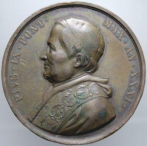 R/ PIO IX AN. XXXI 1878 PADRE PONTEFICE OPUS VAGNETTI DIAMETRO 51 MM PESO 76,51 GR BB+