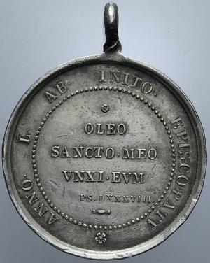 D/ MEDAGLIA LEONE XIII OPUS BIANCHI DIAMETRO 30,8 MM PESO 12,61 GR AG. BB