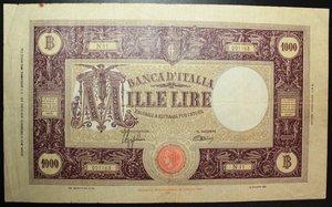 R/ VITTORIO EMANUELE III 1000 LIRE 6/2/1943 GRANDE M FASCIO R BB