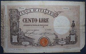 R/ VITTORIO EMANUELE III 100 LIRE 20/5/1925 MATRICE DECRETO MB+