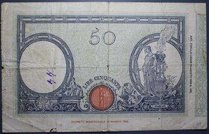 D/ VITTORIO EMANUELE III 50 LIRE 7/5/1929 MATRICE FASCIO MB-BB
