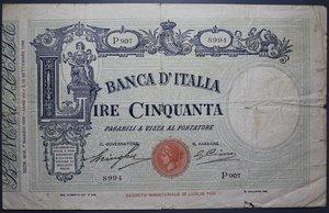 R/ VITTORIO EMANUELE III 50 LIRE 7/5/1929 MATRICE FASCIO MB-BB