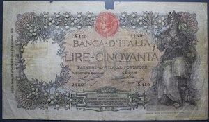 R/ VITTORIO EMANUELE III 50 LIRE 13/11/1919 BUOI RR MB+ (MANCANZE)
