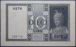 D/ VITTORIO EMANUELE III 10 LIRE 1935 IMPERO BB+