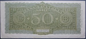 D/ LUOGOTENENZA 50 LIRE 1944 ITALIA TURRITA BB+
