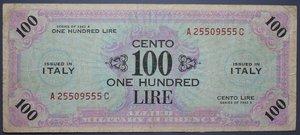 R/ OCCUPAZIONE AMERICANA 100 LIRE 1943 AM BILINGUA qBB