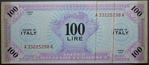 R/ OCCUPAZIONE AMERICANA 100 LIRE 1943 AM BB SCOTCH