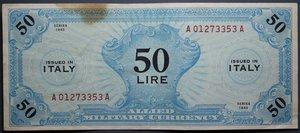 R/ OCCUPAZIONE AMERICANA 50 LIRE 1943 AM BB-SPL
