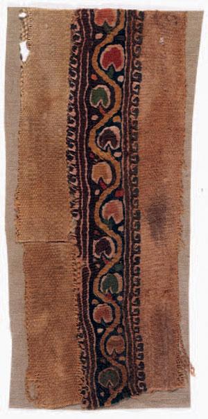 obverse: Clavus Materia e tecnica: lino grezzo tessuto, filo di lana