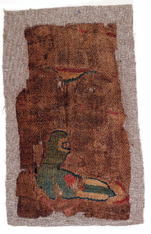 obverse: Tessuto con volatile Materia e tecnica: lino grezzo tessuto,