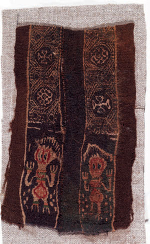 obverse: Clavus Materia e tecnica: lino bruno tessuto, filo di lana b